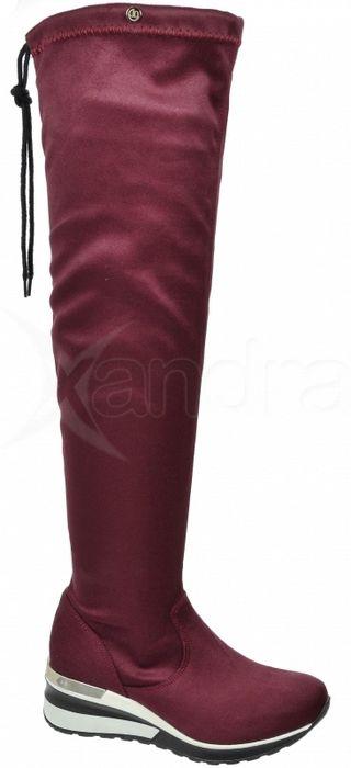 6993a5be9ff1b Dámske elastické čižmy nad kolená - Olivia Shoes DCI029/1 - 9908 - bordové