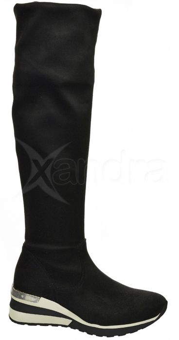89fb542a0c26 Dámske elastické čižmy nad kolená - Olivia Shoes DCI029 1 - 9909 - čierne