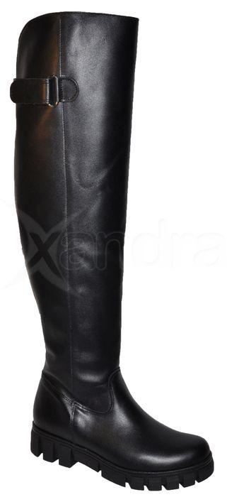 65604993c6 Dámske kožené čižmy PRIMA nad kolená - 9930 - čierne - kabelkyaobuv ...