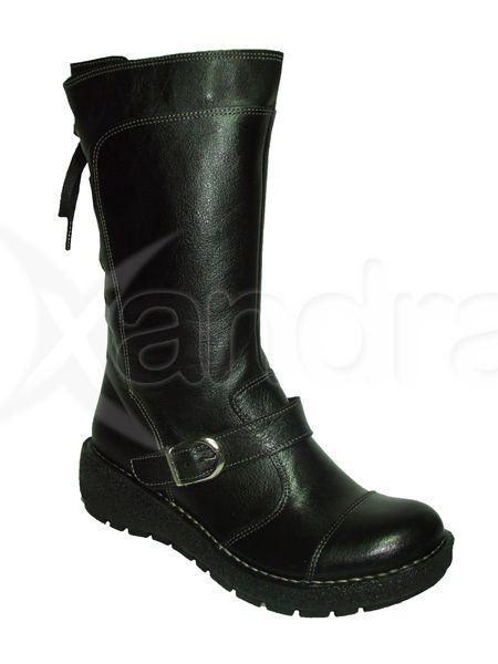a57fc43f644f Dámske kožené čižmy IB - čierne - kabelkyaobuv.sk - Xandra