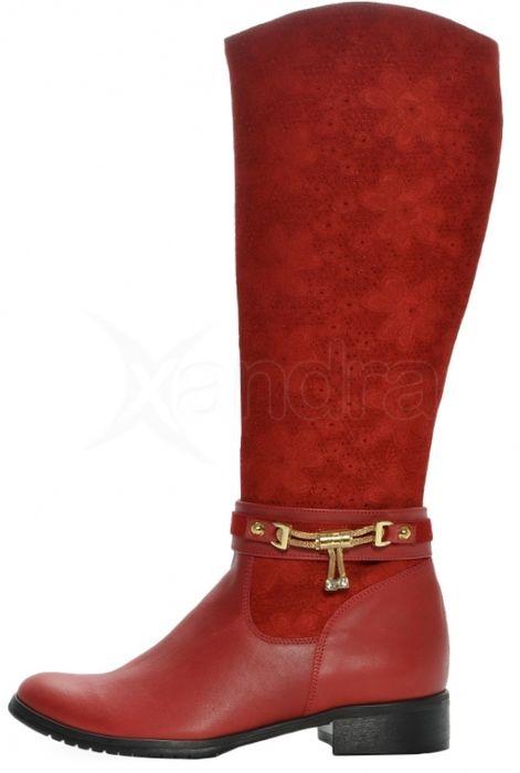 586a0e0851 Štýlové kožené čižmy 473-1 OLIVIA SHOES - červené - kabelkyaobuv.sk ...