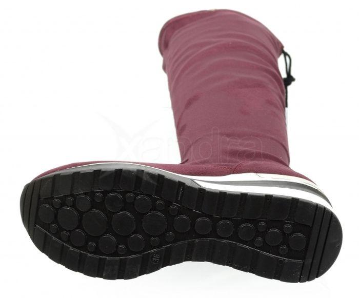 e24a431da0eba ... Dámske elastické čižmy nad kolená - Olivia Shoes DCI029/1 - 9908 -  bordové
