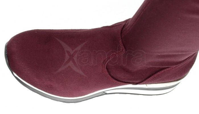 31820634e75e4 ... Dámske elastické čižmy nad kolená - Olivia Shoes DCI029/1 - 9908 -  bordové ...