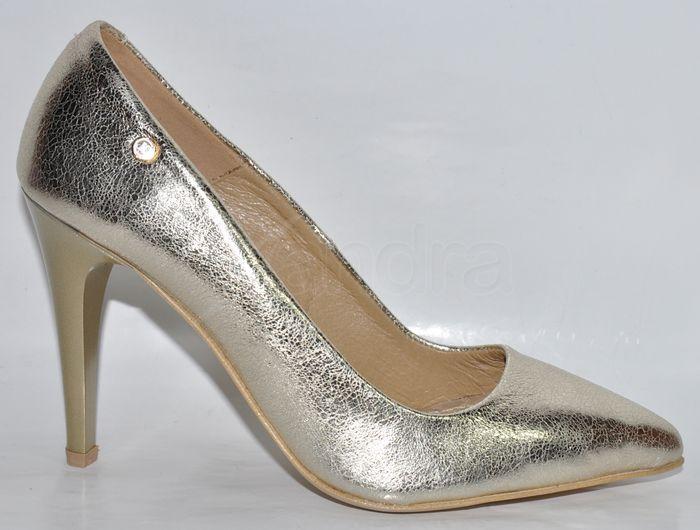 be1effecfe Dámske kožené lodičky Olivia Shoes - 944 - 10148 - zlaté ...