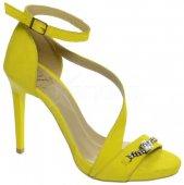 Kožené spoločenské sandále DSA002 OLIVIA SHOES 8941 - žlté 7291468f424