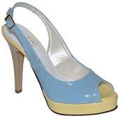 Kožené sandálky - modro-žlté 7269351e77b